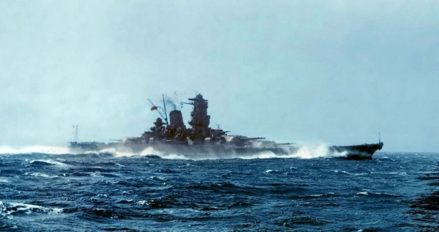 WWII - IJN Yamato at speed