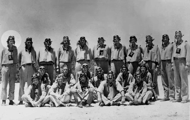 WWII - Midway, Dauntless & Vindicator pilots of VMSB-241, May 1942