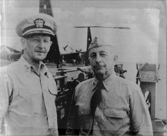 WWII - Midway, Fletcher & Fitch aboard Yktn, 15 May 42 001