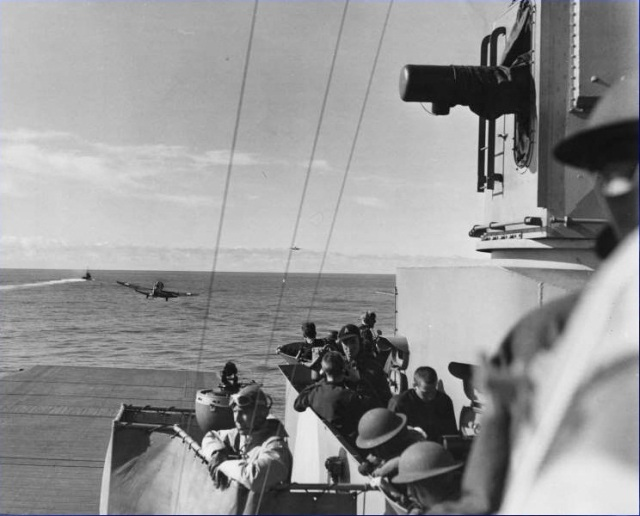 WWII - Midway, Jurika watching VT-8 launch from Hornet's bridge