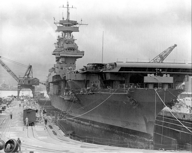 WWII - Midway, Yorktown drydocked, 29 May 42