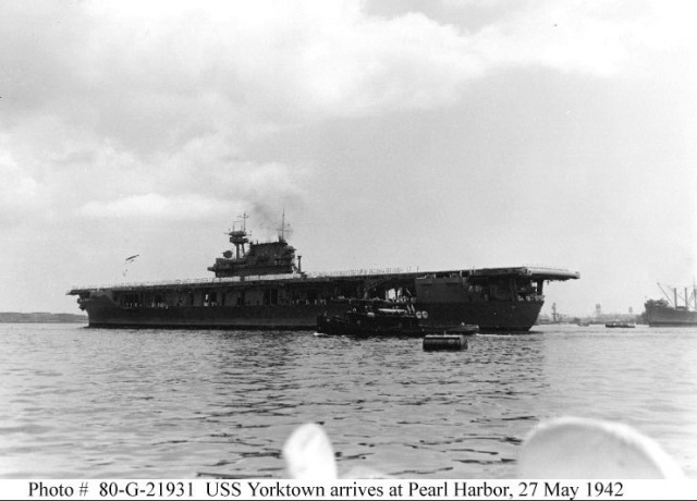 WWII - Midway, Yorktown ret to PH 27 May 42